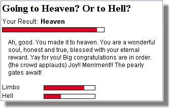 Going to Heaven or Hell